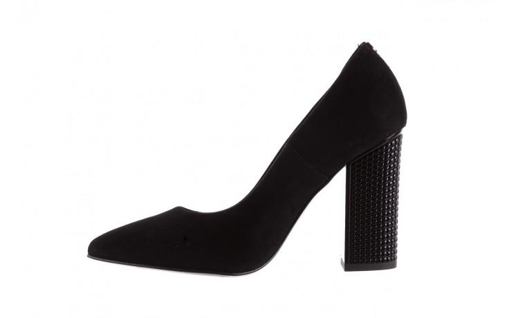 Czółenka bayla-056 8051-21 czarne czółenka z bieżnikowym obcasem, skóra naturalna  - na słupku - czółenka - buty damskie - kobieta 3