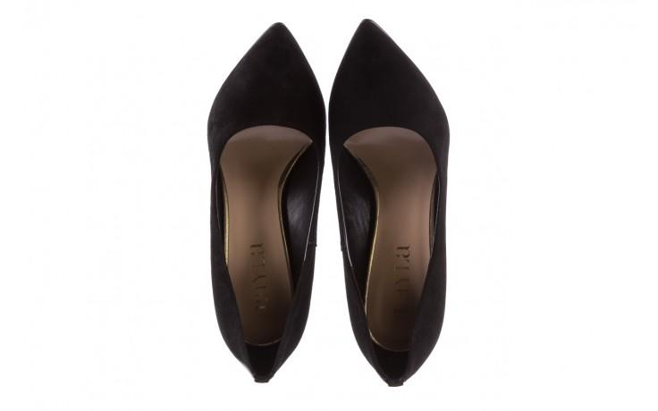 Czółenka bayla-056 8051-21 czarne czółenka z bieżnikowym obcasem, skóra naturalna  - na słupku - czółenka - buty damskie - kobieta 6