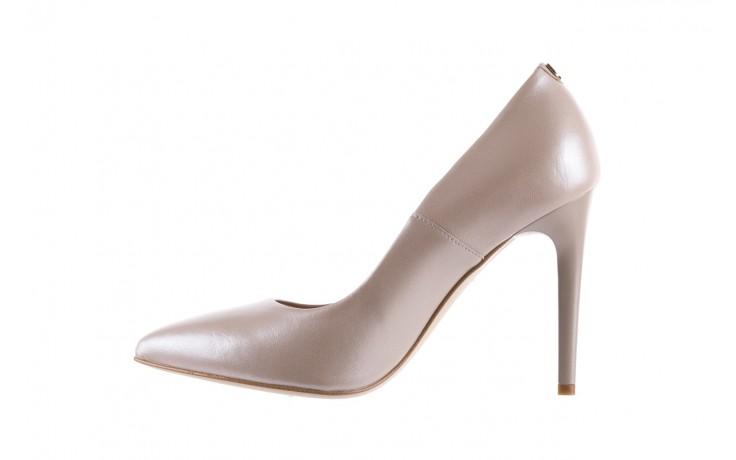 Czółenka bayla-056 9035-1422 szampańskie perłowe czółenka, skóra naturalna  - kolekcja ślubna - trendy - kobieta 2