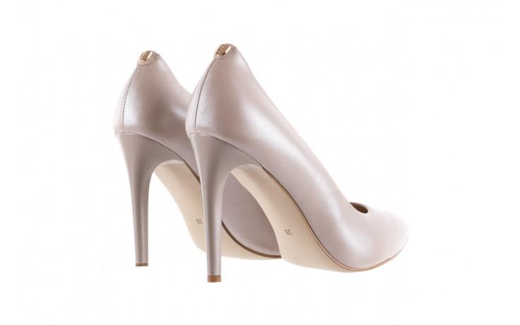 Czółenka bayla-056 9035-1422 szampańskie perłowe czółenka, skóra naturalna  - kolekcja ślubna - trendy - kobieta 3