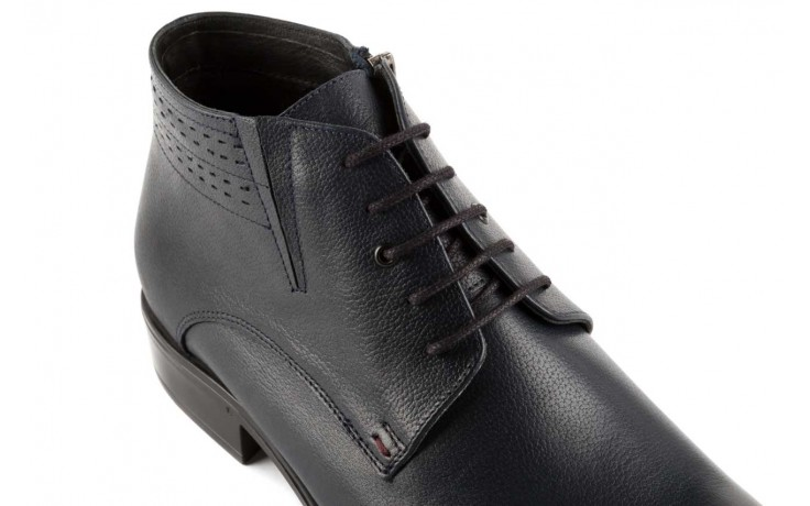 Trzewiki bayla-057 3197 granat, skóra naturalna - wizytowe - trzewiki - buty męskie - mężczyzna 5