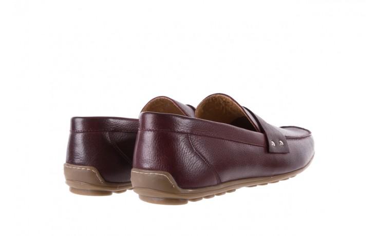 Mokasyny bayla-057 3505 chianti, bordo, skóra naturalna  - mokasyny i espadryle - buty męskie - mężczyzna 3