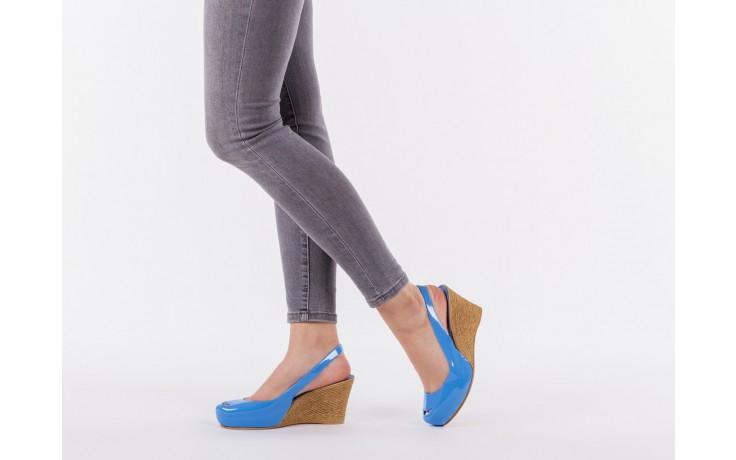 Sandały bayla-064 coco light blue, niebieski, guma 6