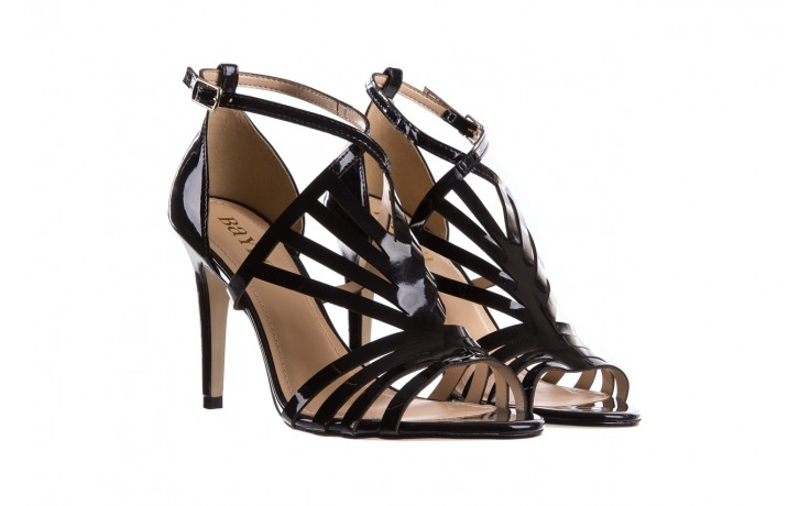 Sandały bayla-065 1388115 col preto, czarny, skóra ekologiczna lakierowana  - bayla - nasze marki 1