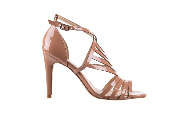 Sandały bayla-065 1388115 col rosa, róż, skóra ekologiczna lakierowana  - sandały - letnie hity cenowe