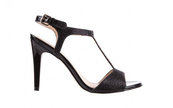 Sandały bayla-065 1388176 col preto, czarny, skóra ekologiczna - peep toe - szpilki - buty damskie - kobieta