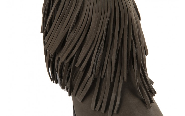 Botki bayla-067 123501 nobuck ashes, brąz, skóra naturalna - kowbojki / boho - botki - buty damskie - kobieta 5