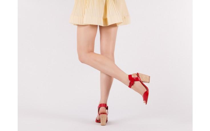 Sandały bayla-067 113215 vegetal red, czerwony, skóra naturalna  - bayla - nasze marki
