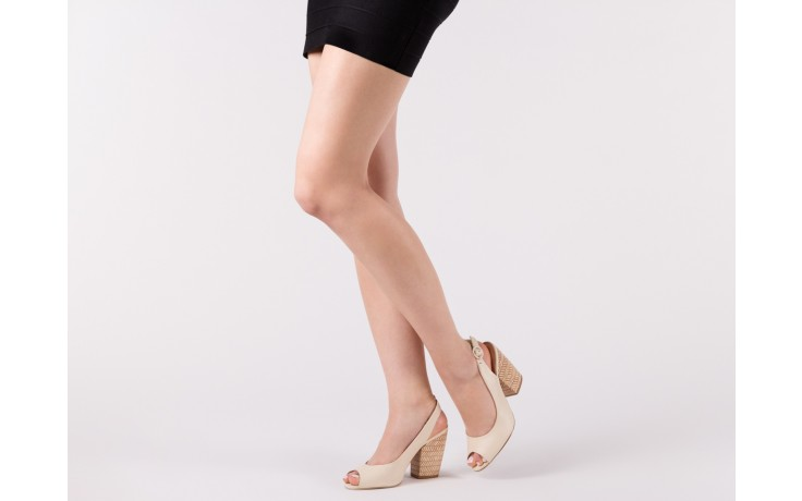 Sandały bayla-067 113216 vegatal vanilla, beż, skóra naturalna  - bayla - nasze marki 6