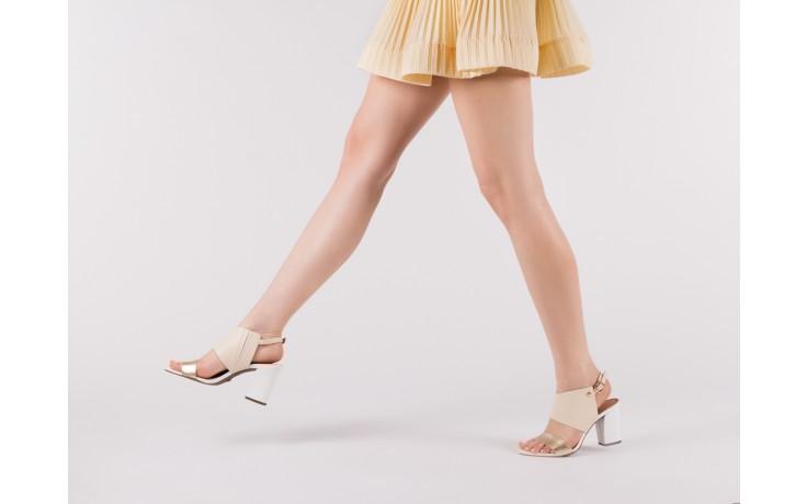 Sandały bayla-067 122330 b gold vanilla white, beż/ złoto, skóra naturalna  - bayla - nasze marki 6