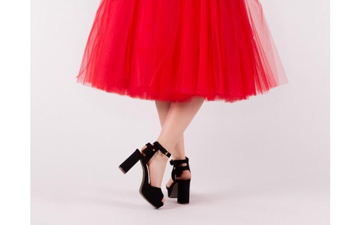Sandały bayla-067 129006 nobuck black, czarny, skóra naturalna  - na platformie - sandały - buty damskie - kobieta 6