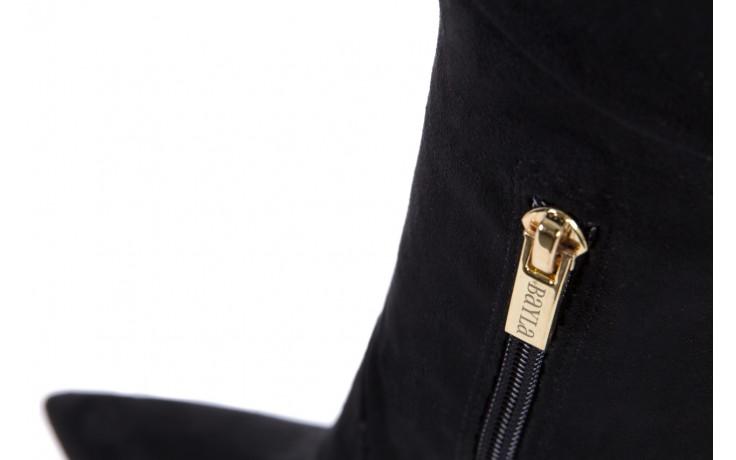 Kozaki bayla-067 130307 nobuck strech black, czarny, skóra ekologiczna  - z elastyczną cholewką / stretch - kozaki - buty damskie - kobieta 5