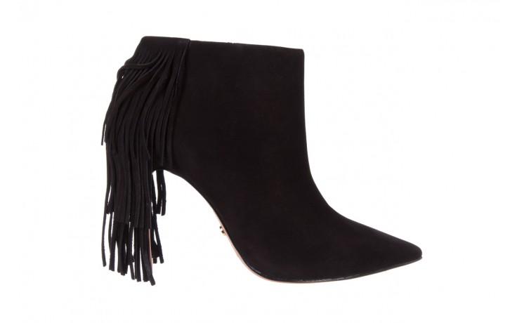 Botki bayla-067 130329 nobuck black, czarny, skóra naturalna  - na szpilce - botki - buty damskie - kobieta