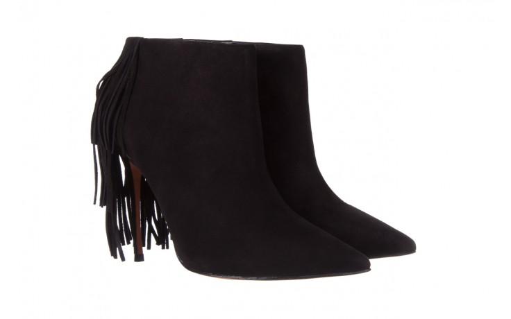 Botki bayla-067 130329 nobuck black, czarny, skóra naturalna  - na szpilce - botki - buty damskie - kobieta 1