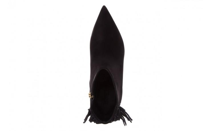 Botki bayla-067 130329 nobuck black, czarny, skóra naturalna  - na szpilce - botki - buty damskie - kobieta 4