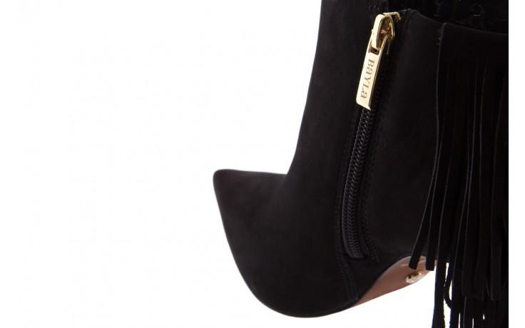 Botki bayla-067 130329 nobuck black, czarny, skóra naturalna  - na szpilce - botki - buty damskie - kobieta 6