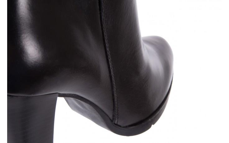 Botki bayla-070 6431660 gaucho nero, czarny, skóra naturalna  - hity cenowe 6