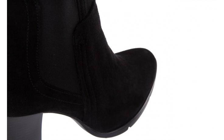 Botki bayla-070 6531662 fashion nero, czarny, skóra naturalna  - bayla - nasze marki 5