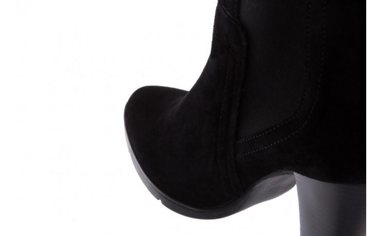 Botki bayla-070 6531662 fashion nero, czarny, skóra naturalna  - bayla - nasze marki 6