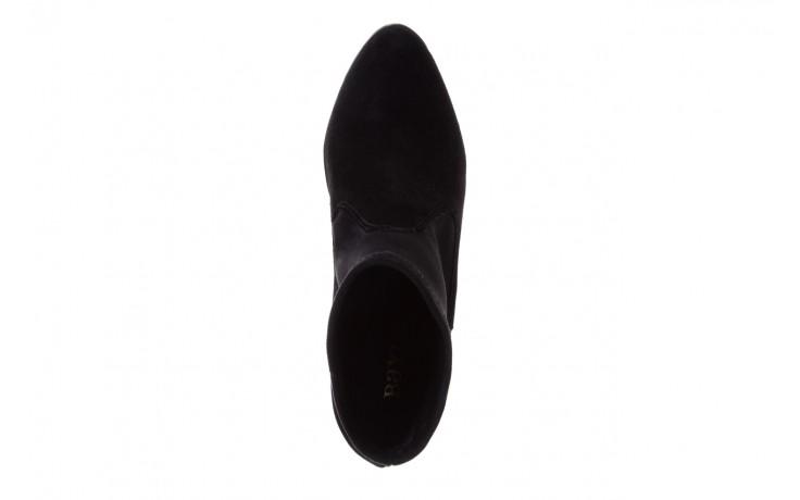 Botki bayla-070 6531667 fashion nero stretch, czarny, skóra naturalna  - hity cenowe 4
