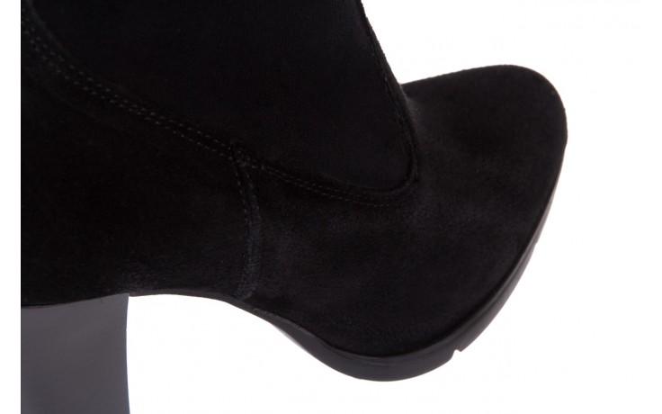 Botki bayla-070 6531667 fashion nero stretch, czarny, skóra naturalna  - hity cenowe 5