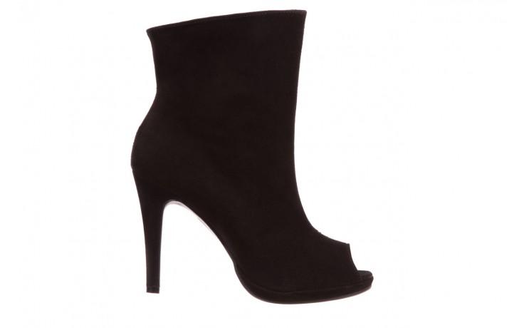 Botki bayla-076 1579z czarny, skóra naturalna  - zamszowe - szpilki - buty damskie - kobieta