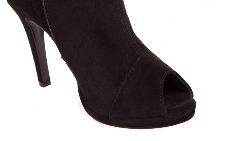 Botki bayla-076 1579z czarny, skóra naturalna  - zamszowe - szpilki - buty damskie - kobieta 4