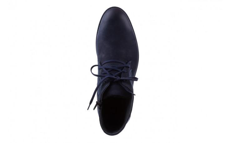 Trzewiki bayla-081 817 granat, skóra naturalna  - trzewiki - buty męskie - mężczyzna 4