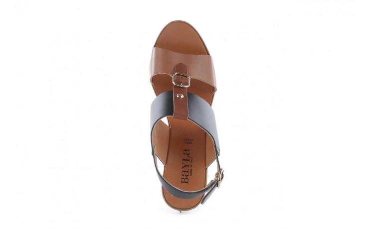 Sandały bayla-093 7202 black natural, czarny/brąz, skóra naturalna - bayla - nasze marki 4