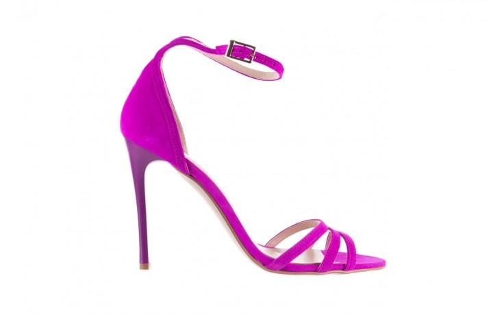 Sandały bayla-097 05 fuksjowe sandały, skóra naturalna  - bayla - nasze marki