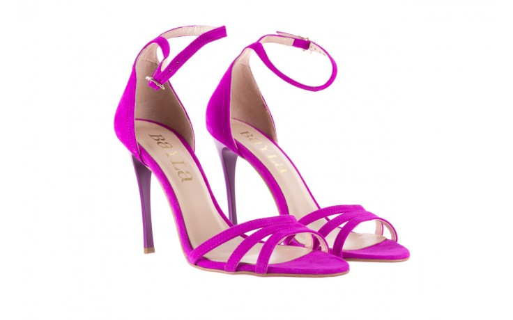 Sandały bayla-097 05 fuksjowe sandały, skóra naturalna  - bayla - nasze marki 1