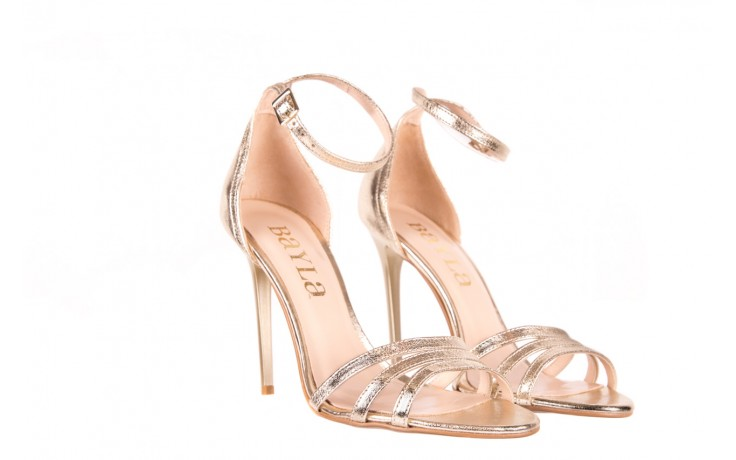 Sandały bayla-097 05 złote sandały, skóra naturalna  - bayla - nasze marki 1