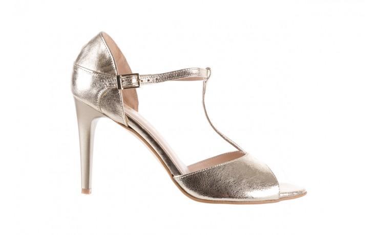 Sandały bayla-097 06 złote sandały, skóra naturalna  - bayla - nasze marki