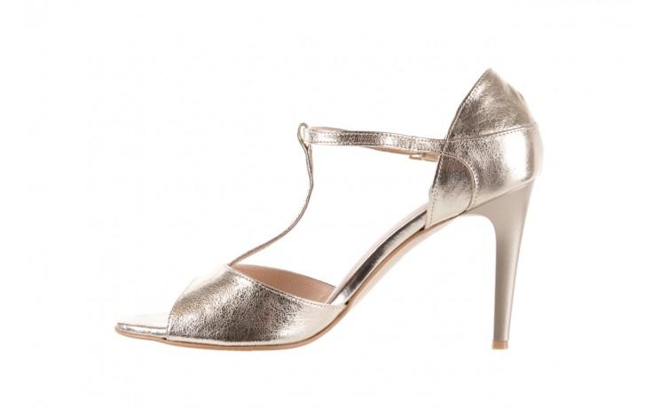 Sandały bayla-097 06 złote sandały, skóra naturalna  - bayla - nasze marki 2