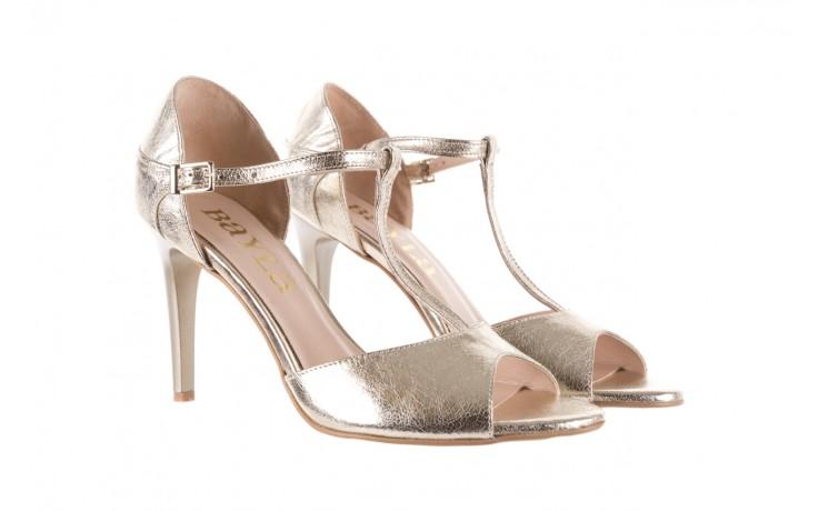 Sandały bayla-097 06 złote sandały, skóra naturalna  - bayla - nasze marki 1