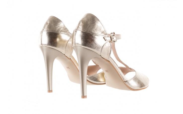 Sandały bayla-097 06 złote sandały, skóra naturalna  - bayla - nasze marki 3