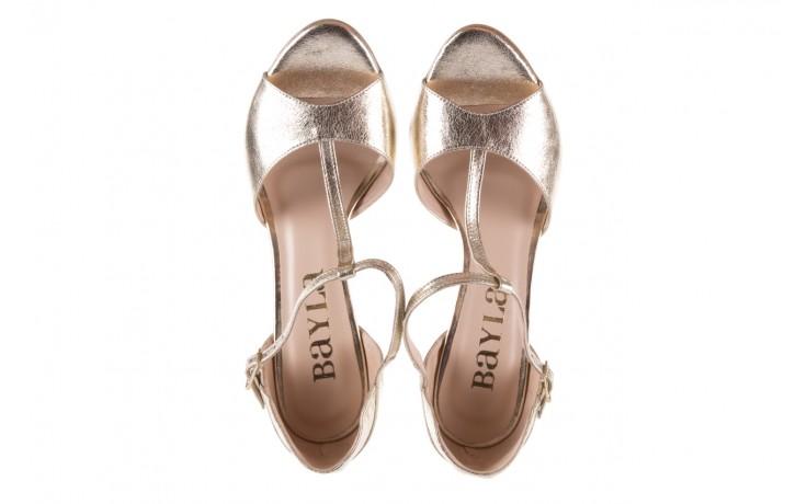 Sandały bayla-097 06 złote sandały, skóra naturalna  - bayla - nasze marki 4