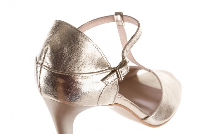 Sandały bayla-097 06 złote sandały, skóra naturalna  - bayla - nasze marki 5