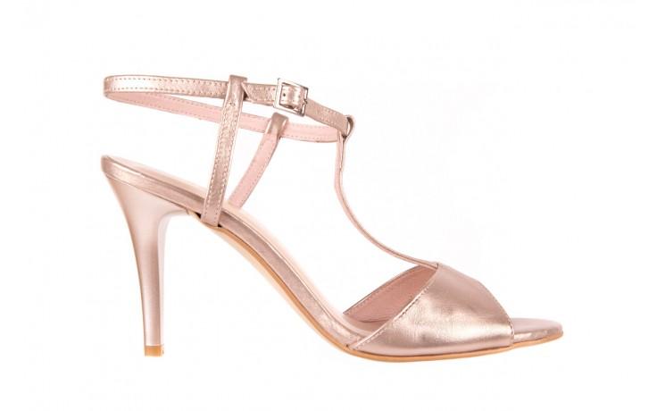 Sandały bayla-097 07 beżowe sandały, skóra naturalna  - kolekcja ślubna - trendy - kobieta