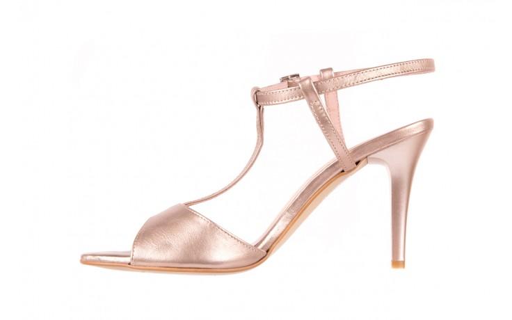 Sandały bayla-097 07 beżowe sandały, skóra naturalna  - kolekcja ślubna - trendy - kobieta 2
