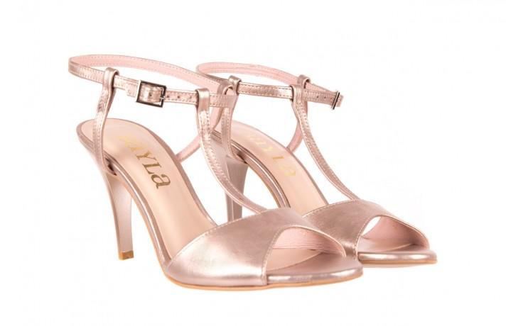 Sandały bayla-097 07 beżowe sandały, skóra naturalna  - kolekcja ślubna - trendy - kobieta 1