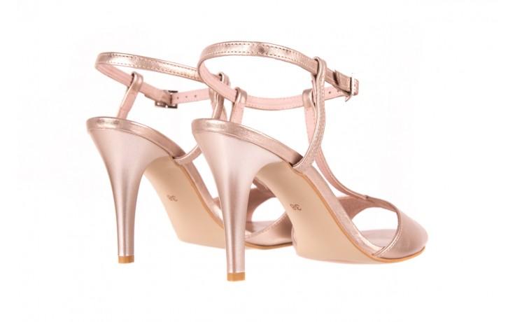 Sandały bayla-097 07 beżowe sandały, skóra naturalna  - kolekcja ślubna - trendy - kobieta 3