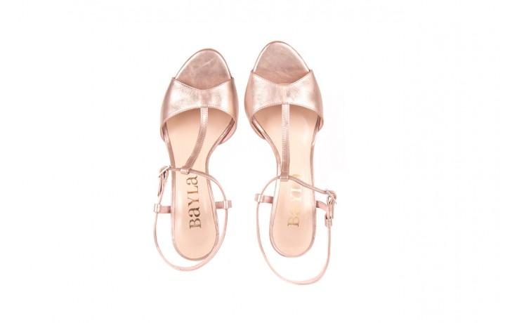 Sandały bayla-097 07 beżowe sandały, skóra naturalna  - kolekcja ślubna - trendy - kobieta 4