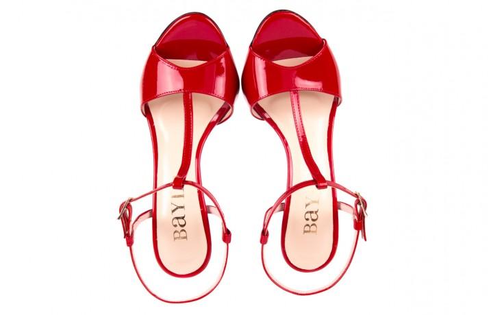Sandały bayla-097 07 czerwone sandały, skóra naturalna 4