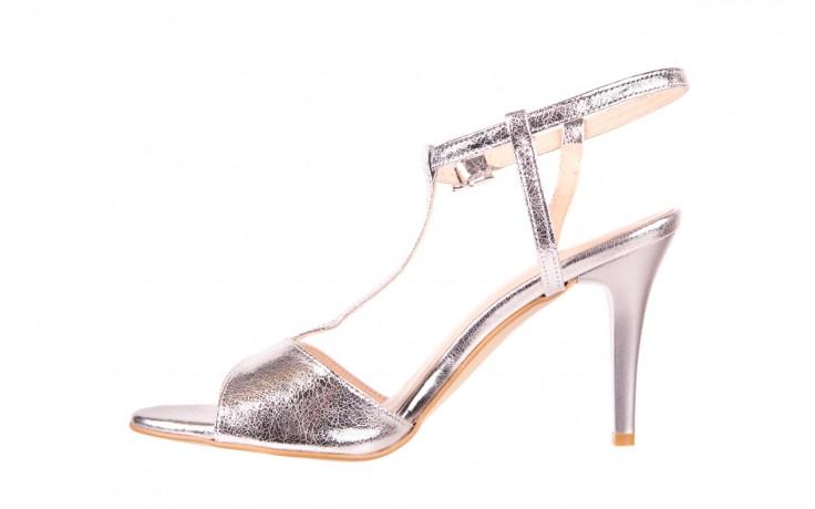 Sandały bayla-097 07 srebrne sandały, skóra naturalna 2