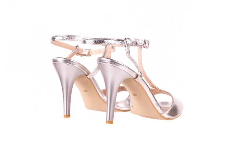 Sandały bayla-097 07 srebrne sandały, skóra naturalna  - bayla - nasze marki 3