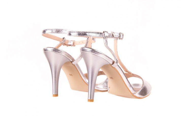 Sandały bayla-097 07 srebrne sandały, skóra naturalna 3