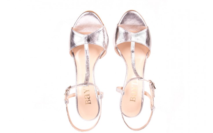 Sandały bayla-097 07 srebrne sandały, skóra naturalna 4