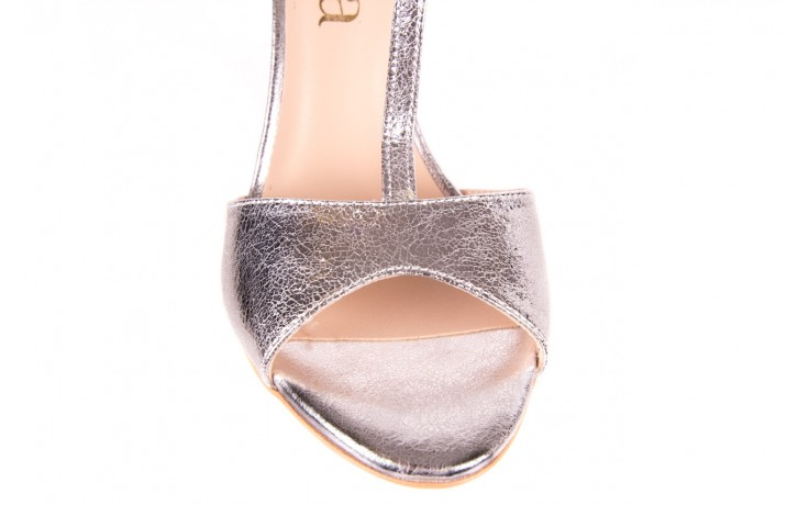 Sandały bayla-097 07 srebrne sandały, skóra naturalna 5