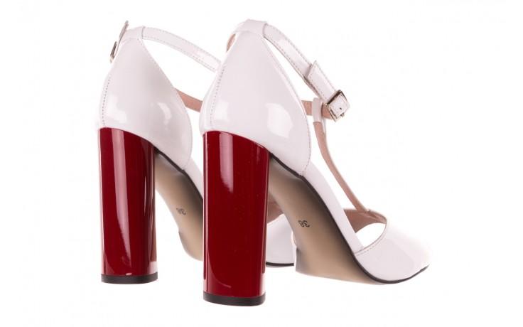 Sandały bayla-097 08 biało-czerwone sandały, skóra naturalna lakierowana  - kolekcja ślubna - trendy - kobieta 3